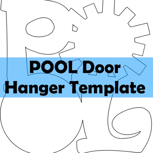 Custom Handpainted Door Hangers - Wooden door hanger template
