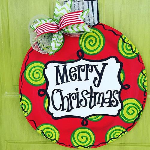 southernadoornments  Christmas Door Hangers