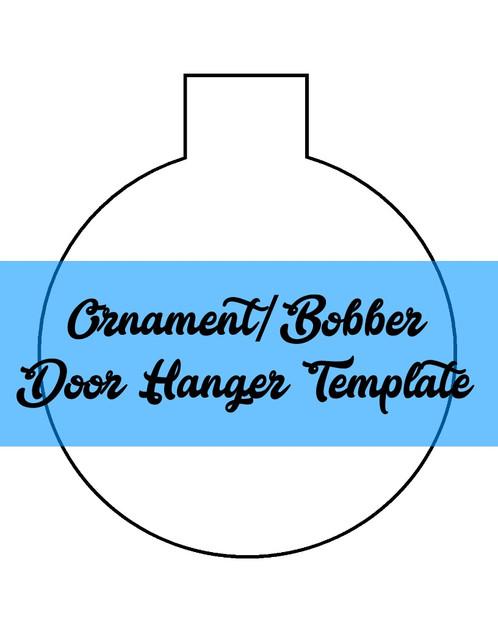 christmas ornament fishing bobber door hanger wreath template