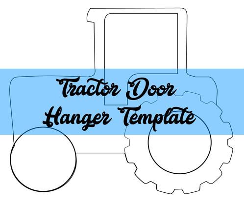 tractor door hanger wreath attachment template