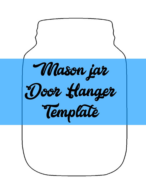 Mason Jar Door Hanger Template  Southernadoornments