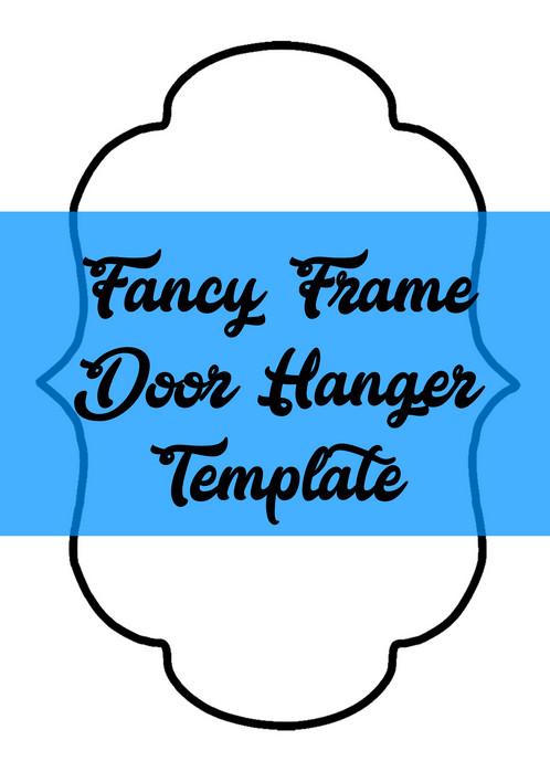 fancy frame door hanger wreath attachment template