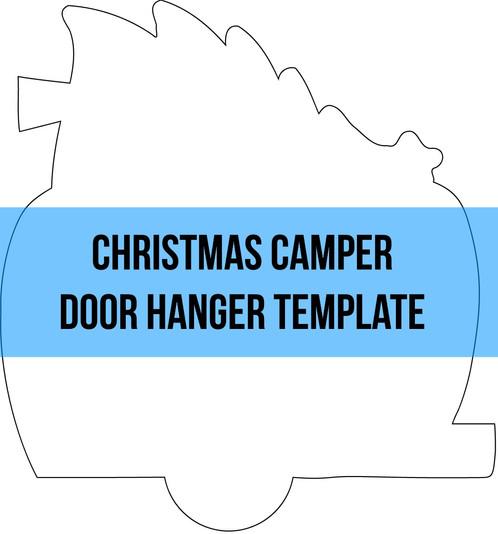 christmas camper door hanger wreath attachment template