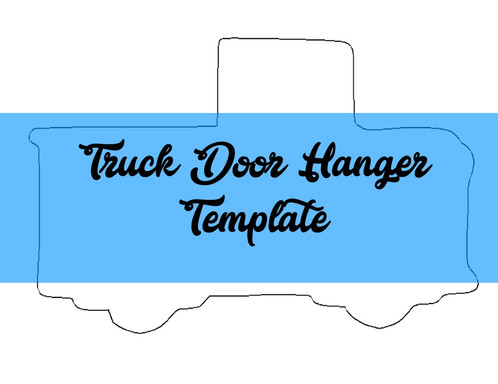 Truck Door Hanger TEMPLATE | southernadoornments