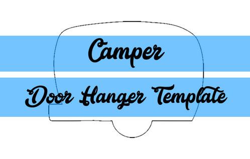 camper door hanger wreath attachment template
