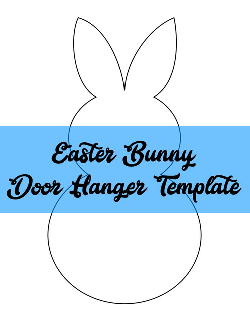 Easter Bunny Door Hanger Template  Southernadoornments