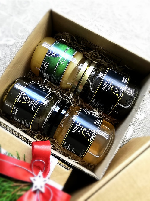 """BOX """"MIELI in PUREZZA"""" 4x500 gr - € 35.40"""