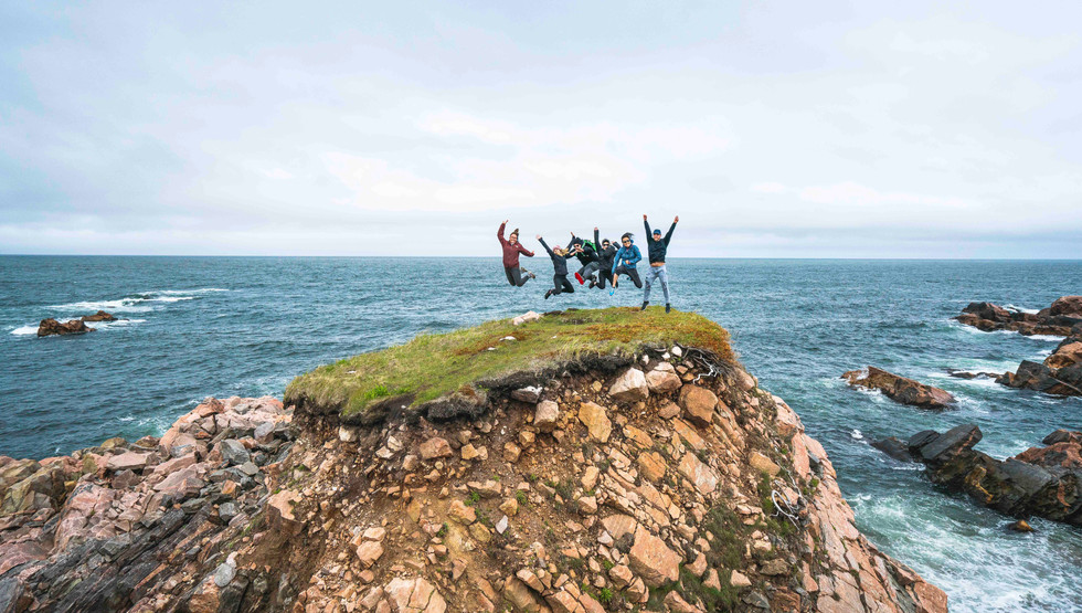 Explore an old French fishing village followed by dramatic stony coastlines at White Point