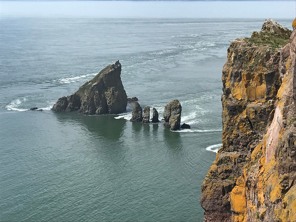 Scenic view of Cape Split Nova Scotia on the Bay of Fundy during an Canada Adventure Trip Vacation