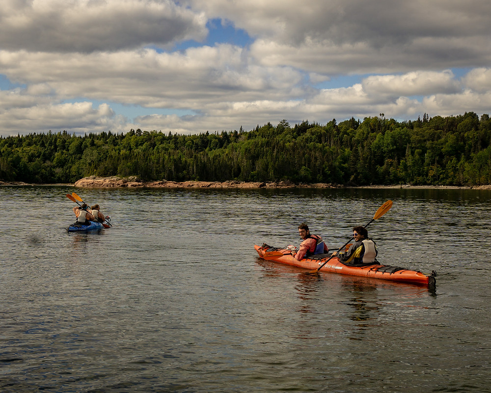 Kayaking on a Adventure Tour Canada cannot be reached by transport options like a bus.