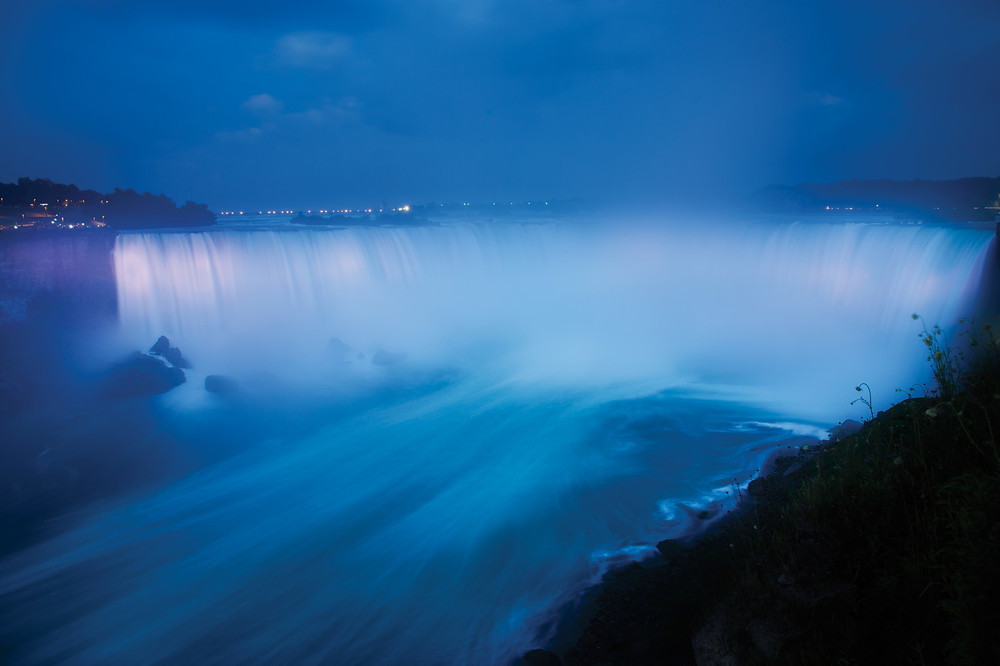 Visit Canada Horseshoe Falls, Niagara Falls Ontario Epic View in the Evening of Niagara Falls