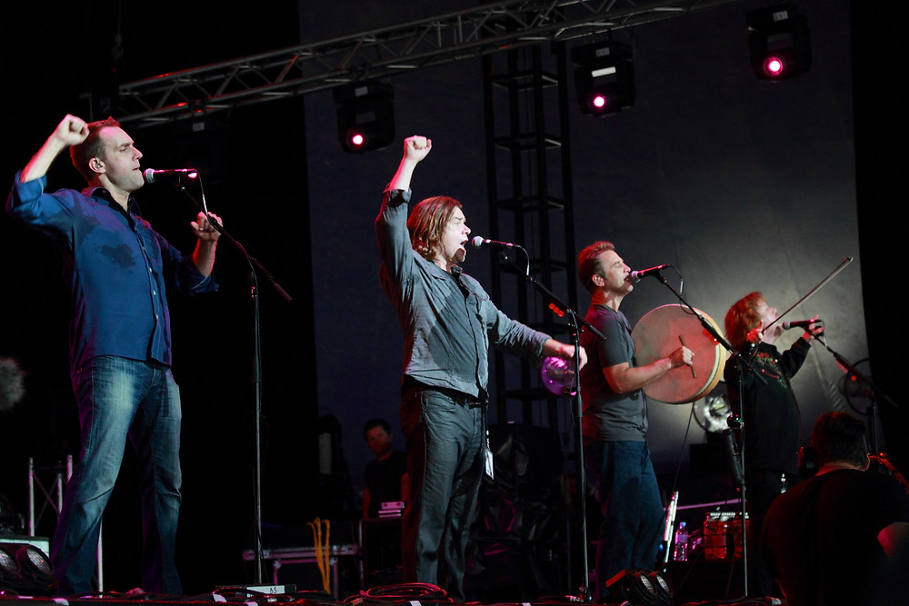 Amazing Canadian Playlists and Concert Photo of Great Big Sea Musicians from Adventure in Canada