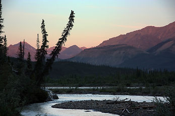 River and Mountain View in Canada for Best Road Trips