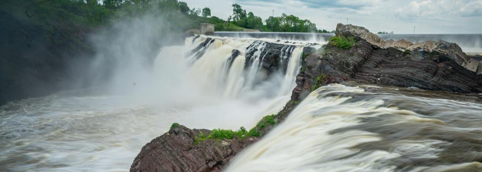 Explore massive waterfalls up-close