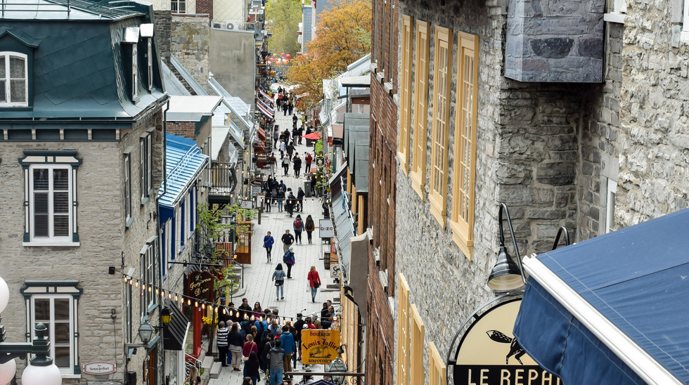 Wander fortified Quebec's cobblestone streets in Lower Town