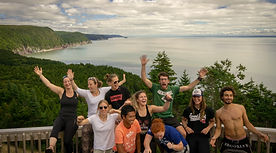 Adventure Travel Canada Group Photo at Bay of Fundy Hiking Experience Explore