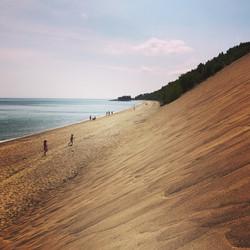 Sand Dunes in Tadoussac, Quebec