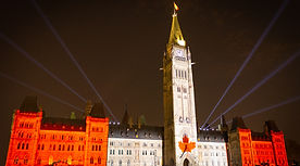 Parliament of Canada in Ottawa Ontario during light festival