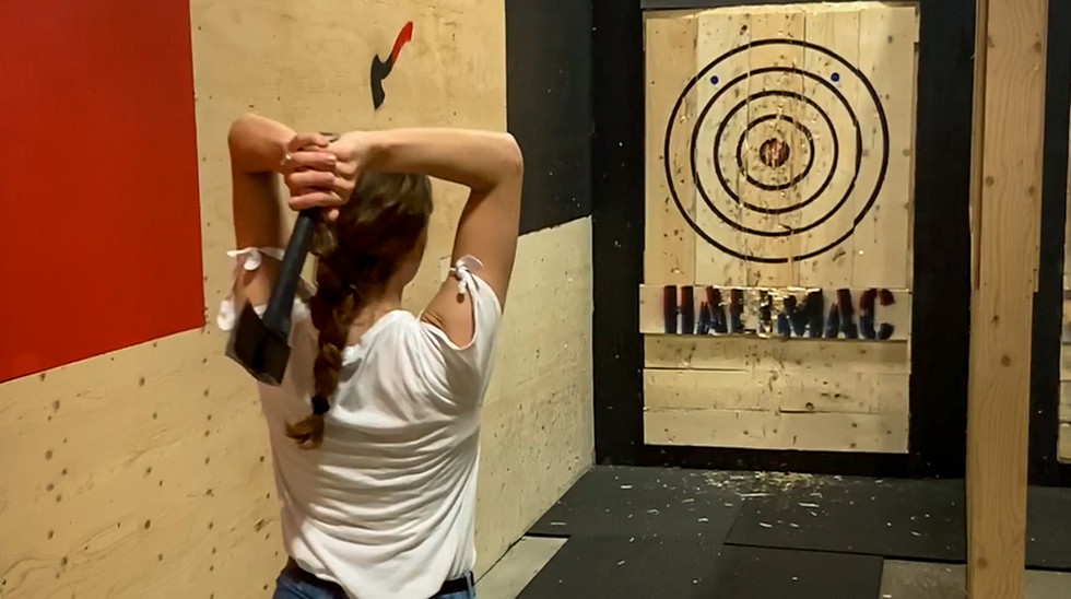 Get your lumberjack on and go axe throwing