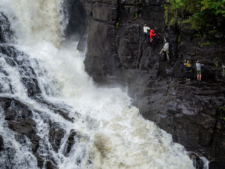 Getting up close to a 74M waterfall - Via Ferrata in a massive canyon just East of Quebec City