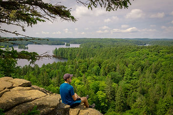 Hiking Scenic Lookout in Algonquin Park Canada Tour