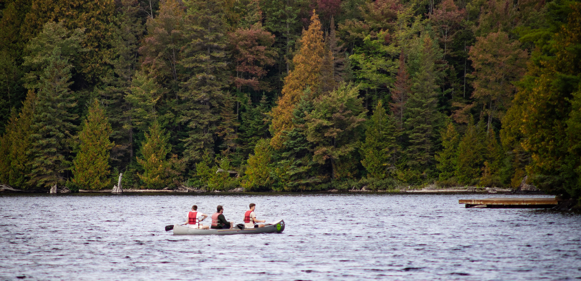 Canoe in one of the largest canoe parks in the world with maple hills, rocky ridges and pure beauty