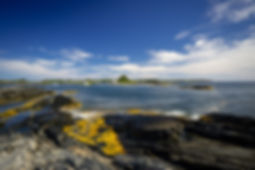 Backpacking Travel Canada Destination Nova Sotia Canada Coast Views Blue Rocks Landscape