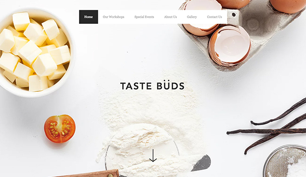 Vzdělání website templates – Cooking School