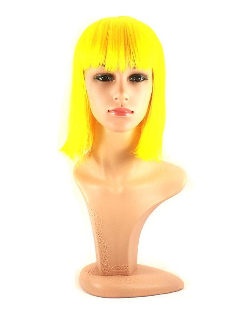 3864-Y070-YLLOW Party Bobcut Wig