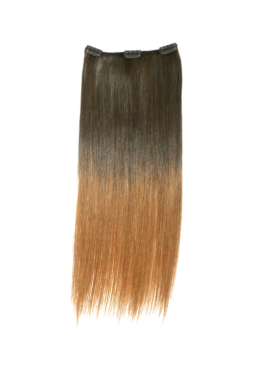 """Keira Human Hair Extensions Bra Length 16"""" 3-clip, Ombre Color L16W6"""