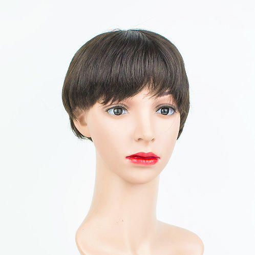 JUN Short Unisex Pixie Monofilament Wig