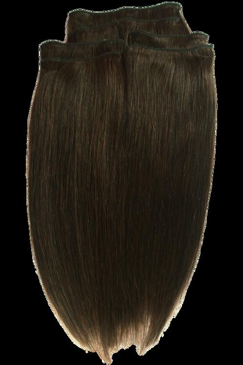 16 Inches 2 DARK BROWN- Full Head Package