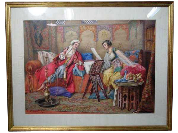 Orientalist Watercolor