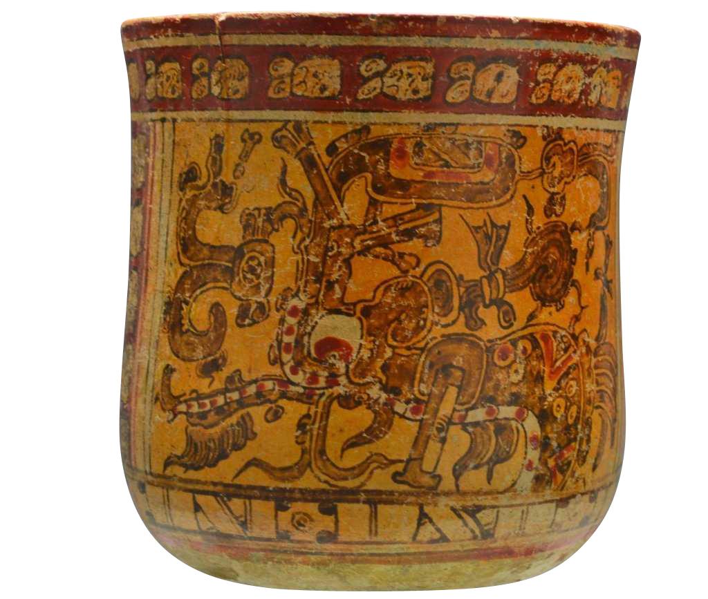 Mayan Painted Vase