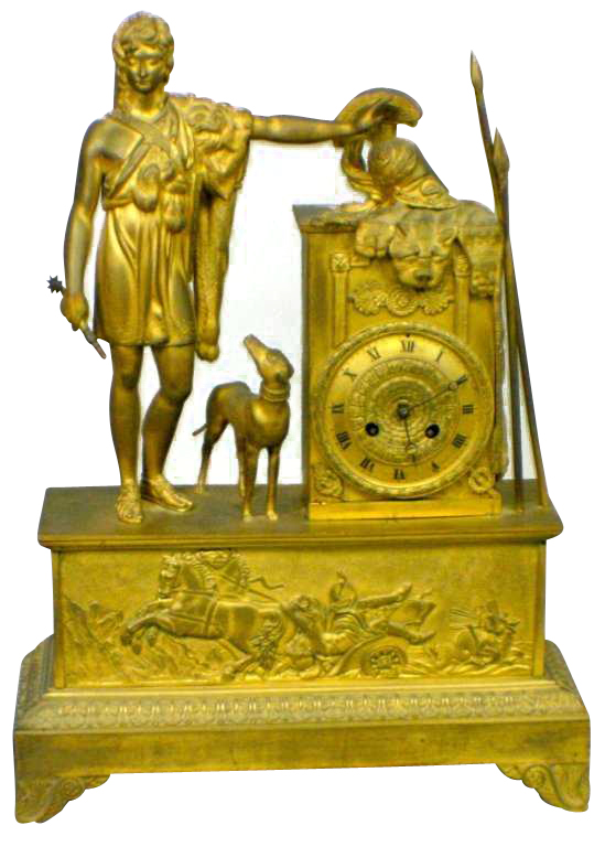 Bronze Mantle Clock