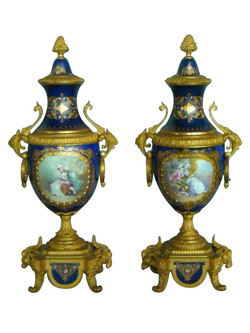 Sevres Type Urns