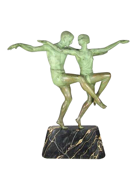 Art Deco Bronze Dancers