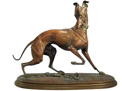 Bronze Whippet Sculpture