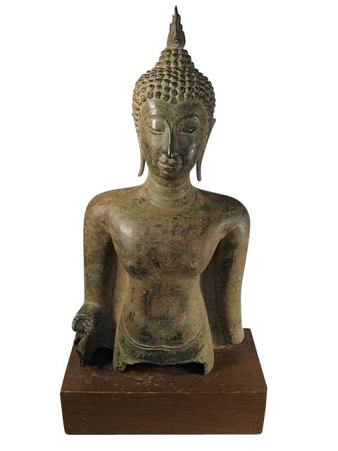 Thai Bronze Buddha Bust