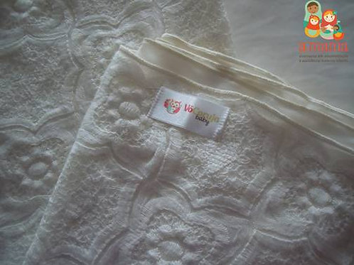 Wrap Sling branco- renda francesa com Dry Fit