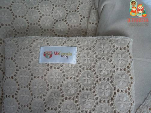 Wrap Sling bege - Bordado inglês com Dry Fit