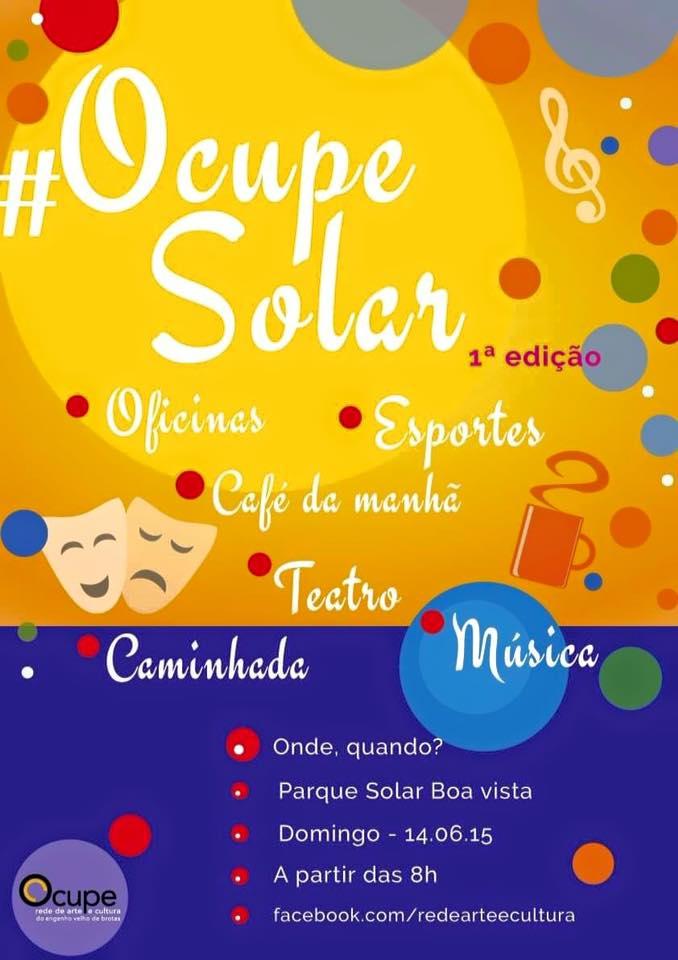 Ocupe Solar - 1ª edição