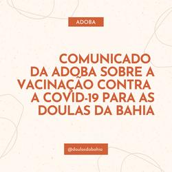 Comunicado Adoba Vacinação