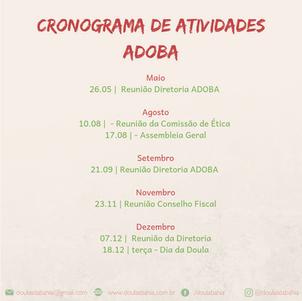Cronograma ADOBA 2019