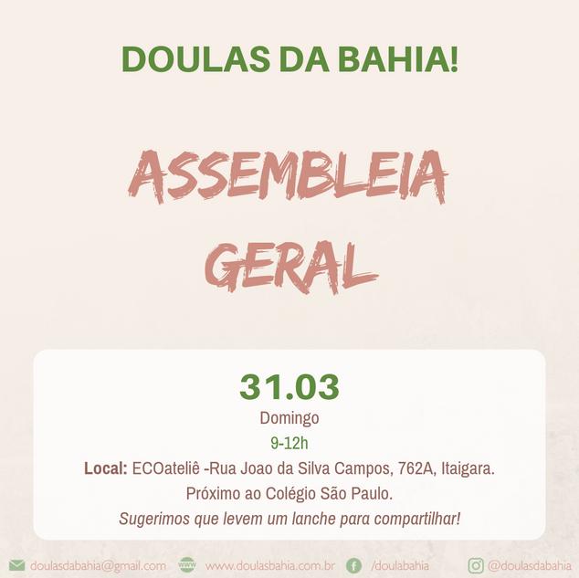Assembleia Geral ADOBA 2019