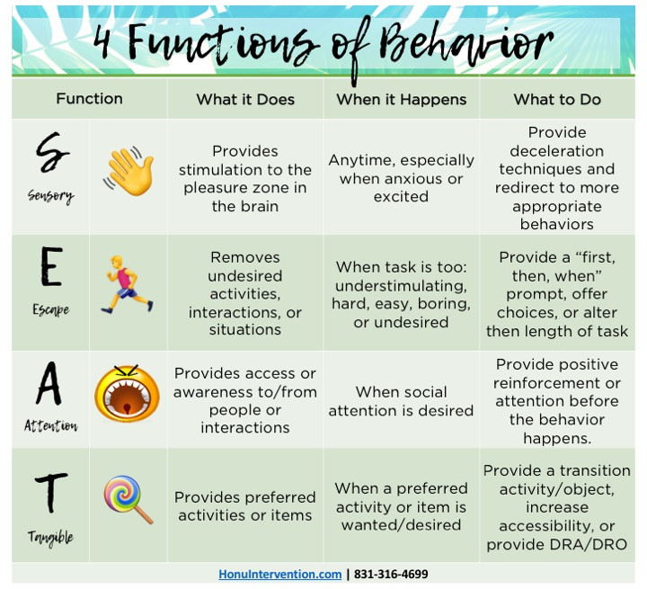 4 Functions of Behavior