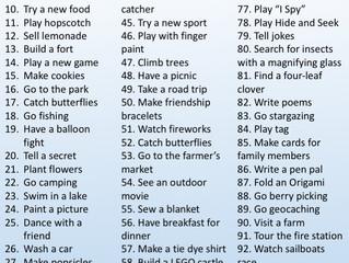101 Free Summer Activities