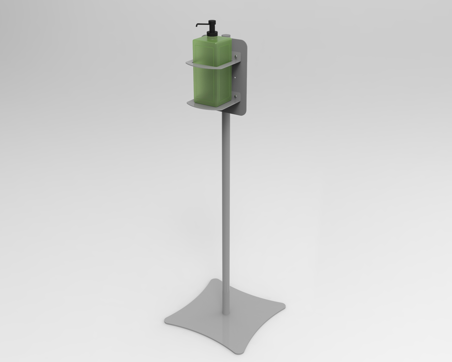 Sanitizer Stand With Square Bottle