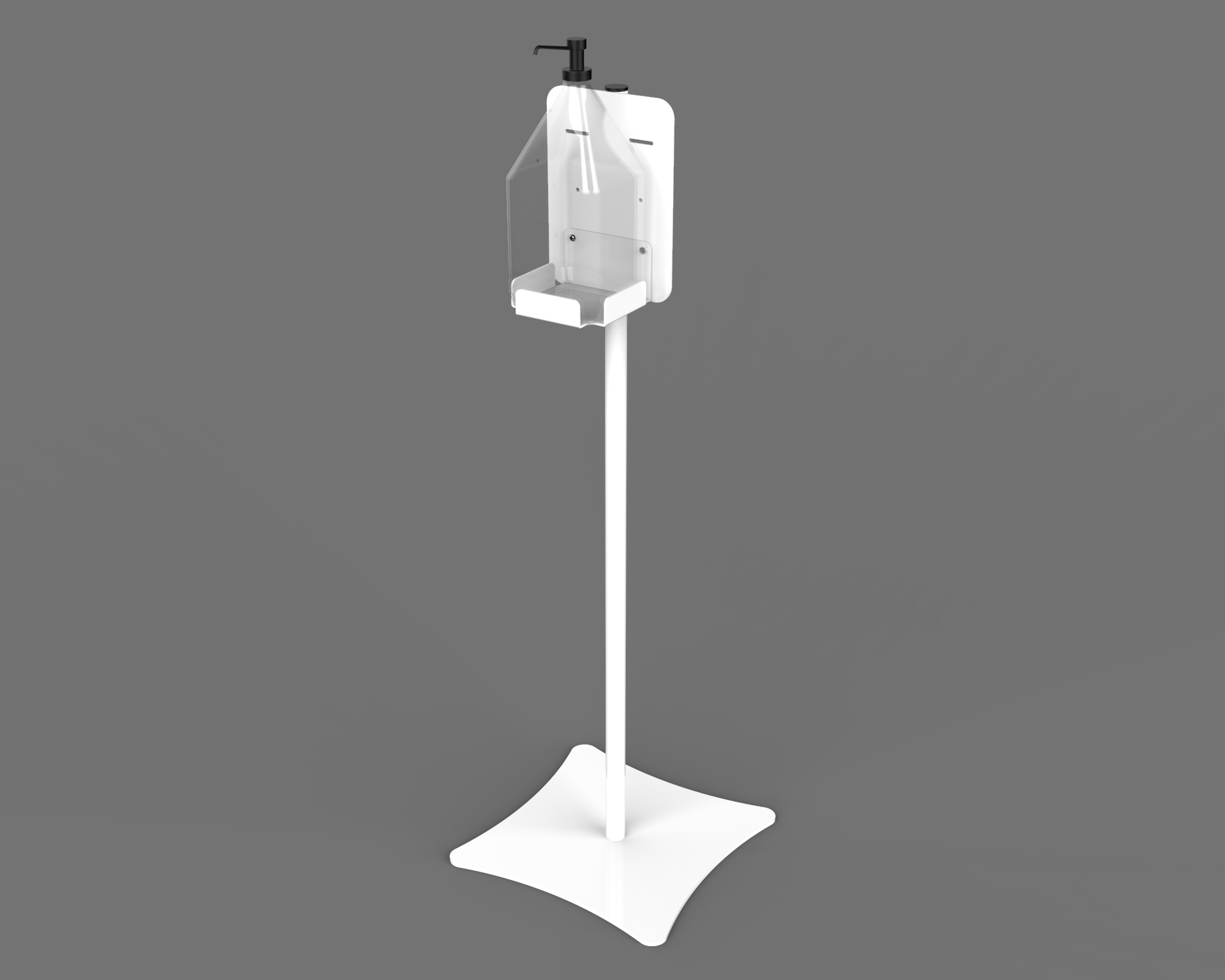 Sanitizer Stand With Bottle