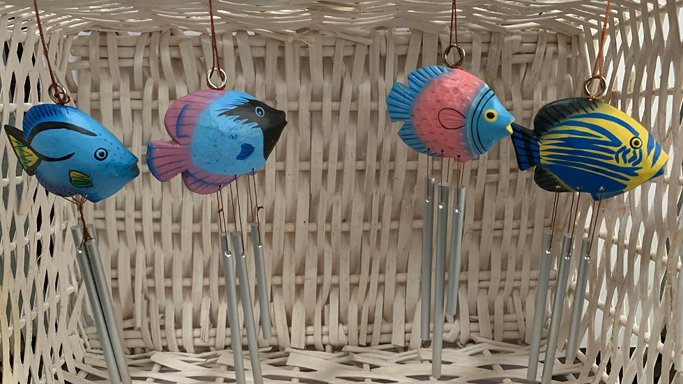 Fish Wooden Wind Chimes